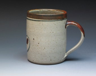 Simon Leach Stoneware Mug, 1988 Vintage Simon Leach Studio Pottery Mug, Son of David Leach, Grandson of Bernard, Stoneware Coffee Mug