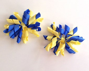 Blue and Yellow Korker piggy set