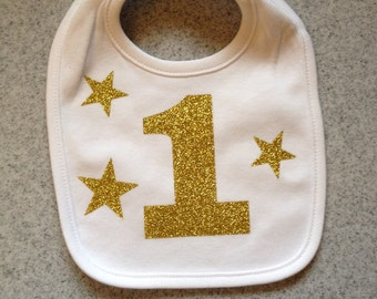 Baby cake smash bib, first birthday bib, twinkle little star, other colors available