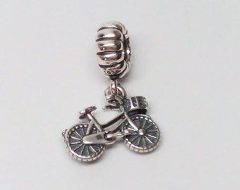 Authentic Pandora 925 ale Bicycle Bead 791266 Retired