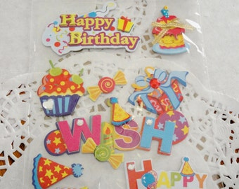 Birthday Stickers Embellishments