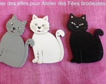 Button, Wooden button, cat