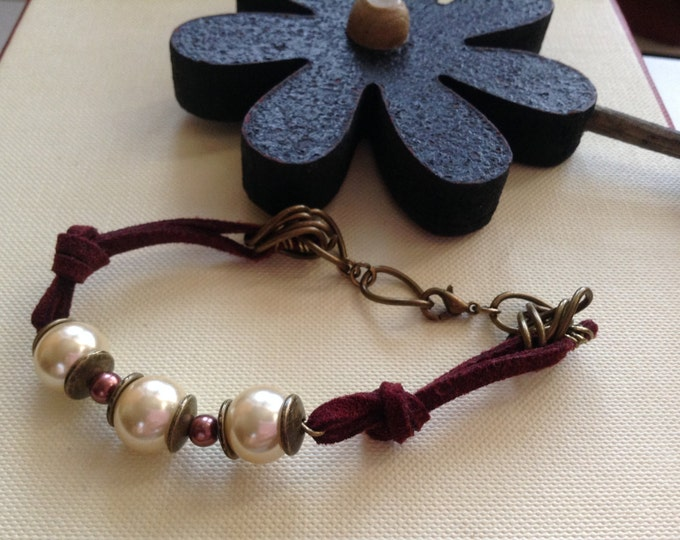 BoHo Burgundy Bracelet