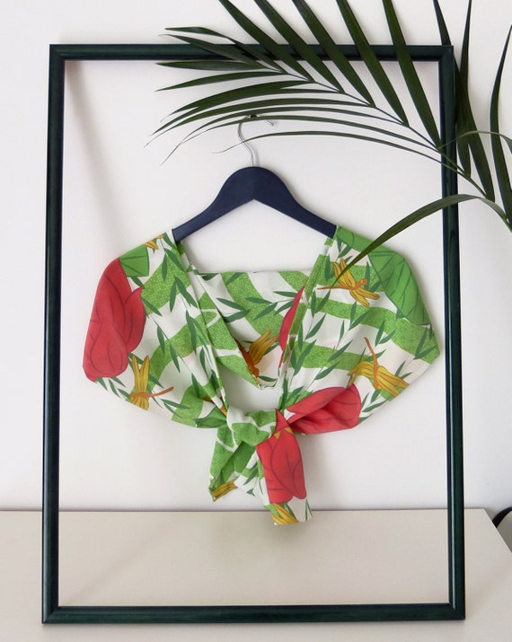 2-in-1 silk scarf