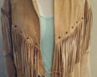 Gorgeous fringed leather Arella Leather and Sportswear jacket