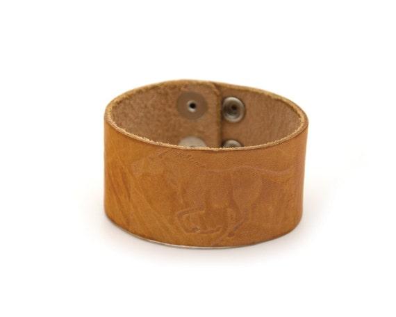 Plateau En Verre Pour Table Pas Cher : Bracelet vintage Cuir repoussé Cuir estampillé Accessoi