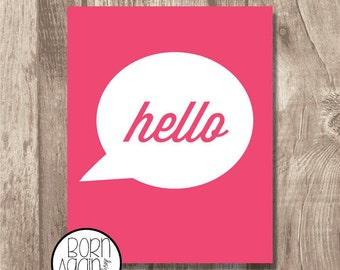 Printable Art Hello