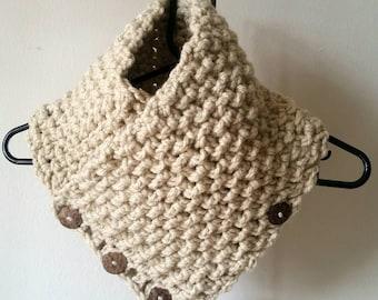 Cozy Handmade Button Down Neck Warmer