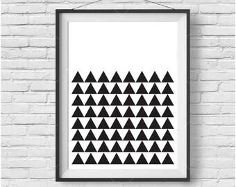 Scandinavian Print, Scandinavian Art, Scandinavian Poster, Geometric Print, Geometric Art, Black and White Print, Minimalist Print, Wall Art