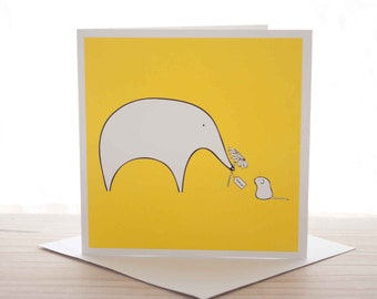 Thank you card - Elephant and Mouse 'Thank You' greeting card