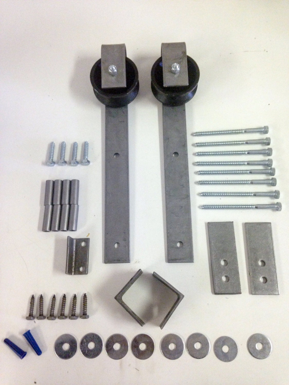Sliding barn door hardware complete kit includes by for Complete barn home kits