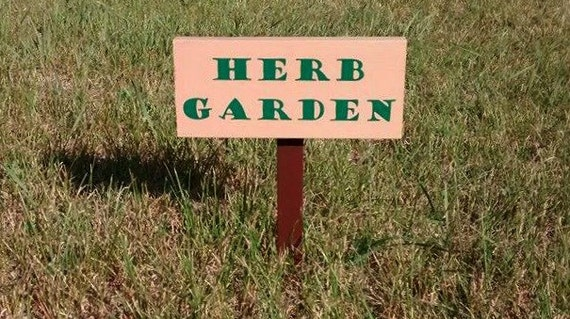 herb garden sign herb garden marker custom garden sign wood garden