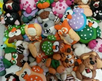 Mixed animal pendants