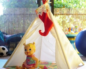 XS 3ft Plain teepee /new born photo tent/photo prop tent/table tent/American doll tipi
