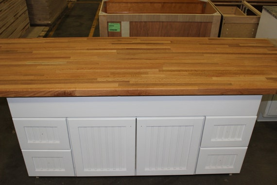 Kitchen Island 36 X 72 forever joint red oak butcher block counter top 1-1/2 x