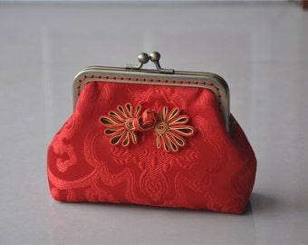Vintage Red Handmade Small Bag Coin Purse