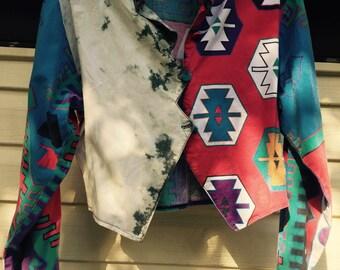 Vintage 80s Aztec cropped jacket