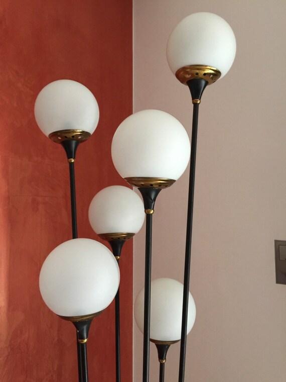 Met del secolo lampada da terra stilnovo - Lampade da tavolo anni 50 ...