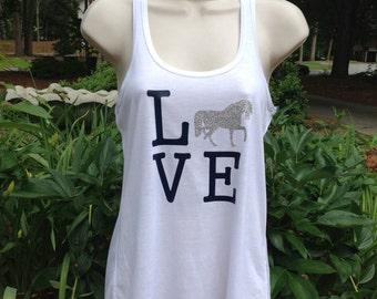 Horse Love flowy tank top