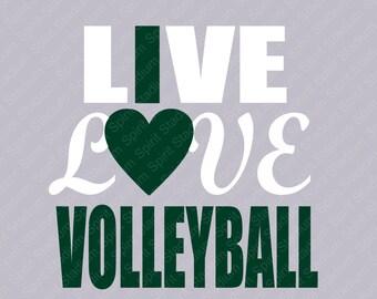 Volleyball TShirt - Live Love Volleyball Shirt - Custom - I Love Volleyball - School Team Spirit T-Shirt