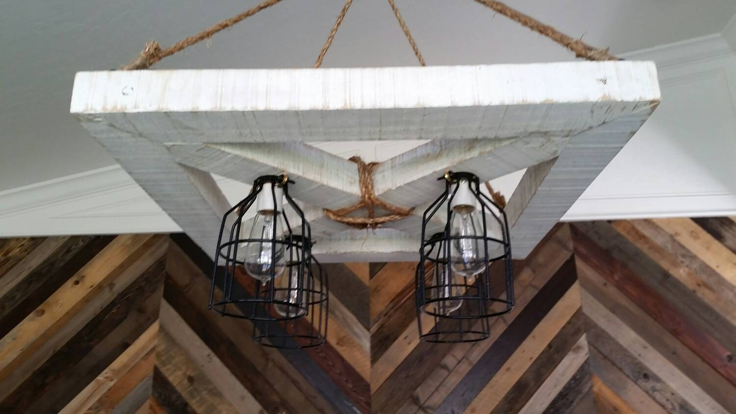 X Squared Farmhouse Chandelier Industrial Light by