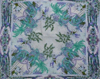 BATTISTONI  Roma 100 % Silk Scarf Floral Paradise divine Design scarf