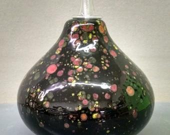 Masquerade Oil Lamp Round--Hand-Painted--Glazed Ceramic Bisque--Home-Patio-Garden Decor--Seasonal-Year Round Usage