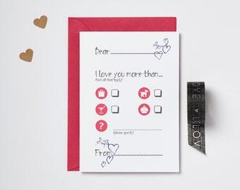 I Love You More Than Card