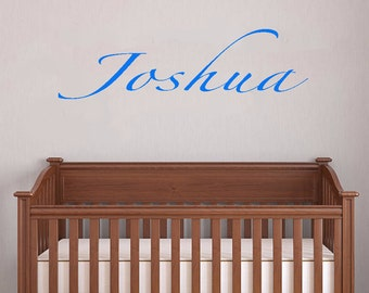 boys room, wall decal, personalized name decal, children's wall decal, baby name vinyl wall decal, nursery decor, baby shower gift, gift