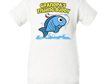 Grandpa's Fishing Buddy Infant Creeper by Inktastic