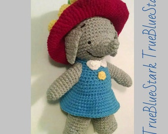 Ella The Elephant Free Crochet Pattern : Cartoon toy crochet Etsy
