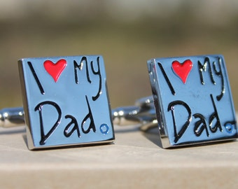 Father's Day I Love My Dad Cufflinks