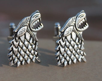 Game of Thrones Direwolf House Stark Cufflinks