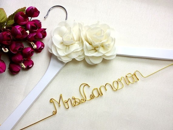 Personalized Wedding Hangerbrides hangername