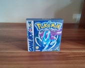 GameBoy Colour Pokemon Crystal  Repro Box  Insert NO GAME INCLUDED