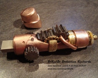 Steampunk usb flash drive 16 GB pendrive