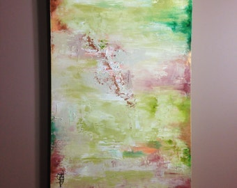 Colorful Abstract Painting 24x48 Large Canvas