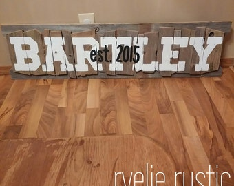 Rustic Name Signs