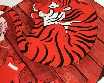 Sleeping Tiger Illustration