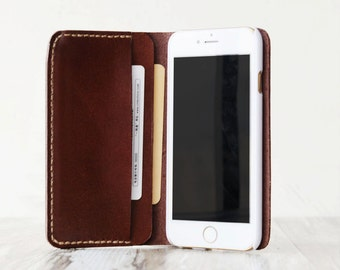 Personalized Leather IPhone 5 Case / iphone 5 wallet / iphone 5s women's or men's iPhone 5 wallet / iPhone 5s Case Wallet / iphone Leather