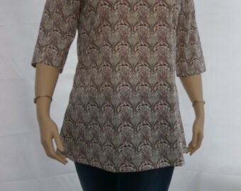 Top, large - Liberty cotton tunic / top