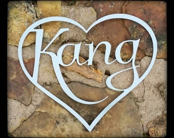 Personalized Metal Wall Art rustic metal letter decor custom metal sign personalized