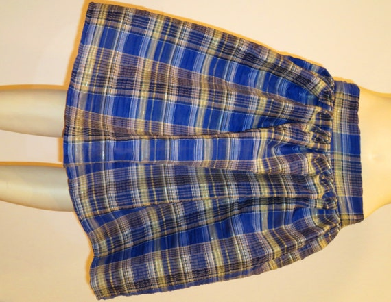 royal blue plaid pleated skirtmidi skirt in blue by sohoskirts
