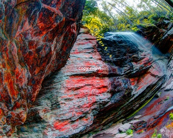 Red Rock Falls_Ultra High Definition Art