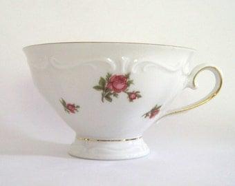 Vintage Tea Cup Fine Porcelain China Roses Bavaria Valentine's Day Gift