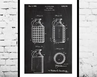 Hand Grenade Patent, Hand Grenade Poster, Hand Grenade Print, Hand Grenade Art, Hand Grenade Decor, Hand Grenade Wall Art, Grenade