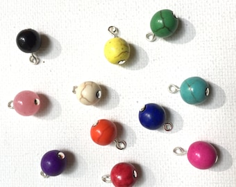 Add-On Howlite Bead - 8mm (LL227)