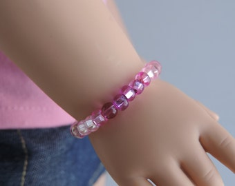 Shades of Pink Bracelet for American Girl Dolls and other 18 inch dolls