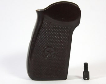 Original Soviet PM Makarov pistol grips Brown bakelite