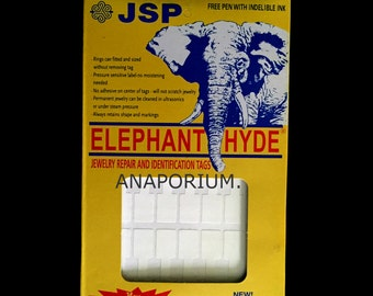 1000 Pcs Approx-ELEPHANT HYDE White  Price Tag Stickers Jewelry Tags Repair Tags With a Free Pen.